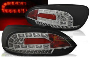Pair Of Tail Lights For Vw Scirocco 3 Iii 2008 2014 Black Led Ww Freeship Us Ldv