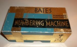 Vintage Bates Numbering Machine Stamp 6 Wheels Style E W Box Ink Stylus Works