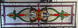 Stained Glass Window Transom Or Sidelight Hanging 34 1 4 X 12 1 2