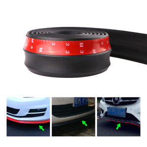 Universal Car Front Lip Bumper Rubber Strip Protector With 3m Adhesive Durable