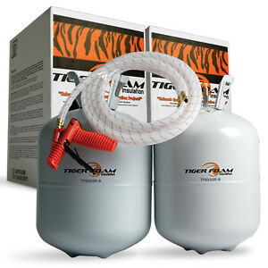 Tiger Foam 600bd ft Slow Rise Spray Foam Insulation Kit Free Shipping