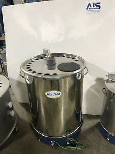 Nordson 150lb Ss Powder Hopper W New Fluidizing Plate Refurbished