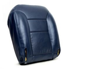 95 99 Chevy Suburban Tahoe Diesel Lt 4x4 Leather Driver Bottom Seat Cover Blue