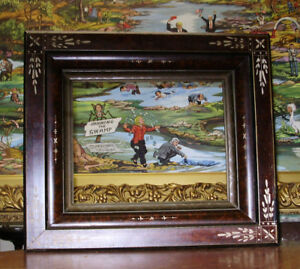 Antique Victorian Eastlake Deep Picture Frame 1800s 8 X 10 In