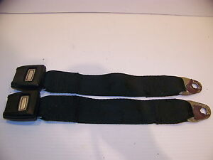 1973 74 75 76 Dodge Dart Plymouth Duster Valiant Black Seat Belts Oem 3760191