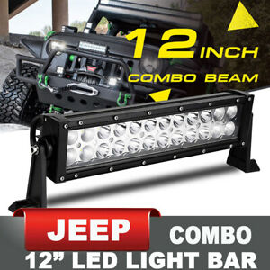 12 Front Bumper Led Light Bar Combo Offroad Driving Work Lamp Ch