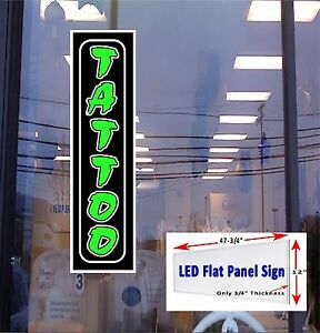 Led Sign Tattoo Window Sign 48x12 Neon Banner Alternative New Flat Panel Design