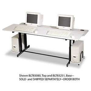 Balt Split level Computer Training Table Base 72w X 36d X 33h Black box Two