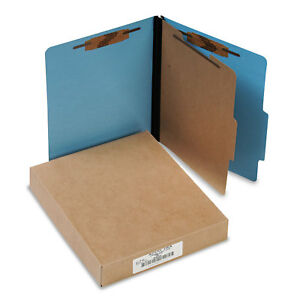 Acco Colorlife Presstex Classification Folders Letter 4 section Light Blue 10