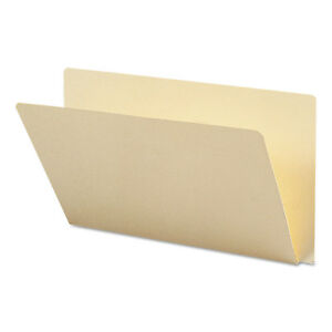 Smead Folders Straight Cut Single ply Extended End Tab Legal Manila 100 box
