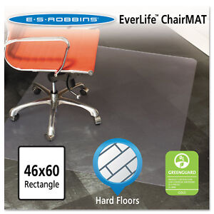 Es Robbins 46x60 Rectangle Chair Mat Multi task Series For Hard Floors Heavier