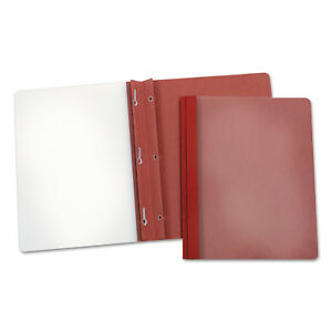 Oxford Earthwise Recycled Clear Front Report Covers Letter Size Red 25 box 57871