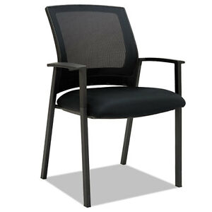 Alera Es Series Mesh Stack Chairs Black 2 Per Carton Es4314