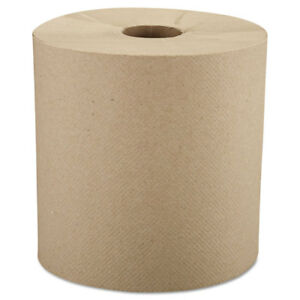 Windsoft Nonperforated Roll Towels 8 X 800ft Brown 6 Rolls carton 12806