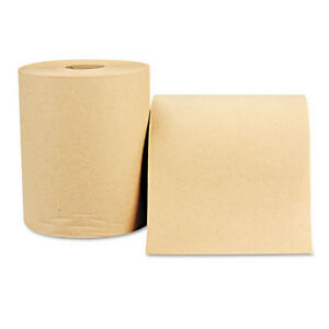 Windsoft Nonperforated Paper Towel Roll 8 X 600ft Brown 12 Rolls carton 1180