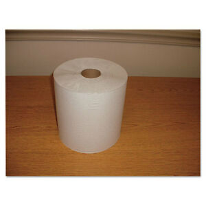 Morcon Paper Hardwound Roll Towels Paper White 7 4 5 X 600ft 12 carton W12600