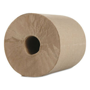 Morcon Paper Hardwound Roll Towels Kraft 1 ply 600 Ft 7 8 Dia 12 carton R12600