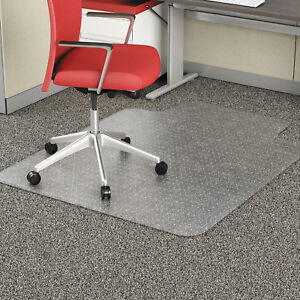 Alera Studded Chair Mat For Flat Pile Carpet 45 X 53 With Lip Clear