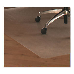 Floortex Cleartex Ultimat Polycarbonate Chair Mat For Hard Floors 48x53 W lip
