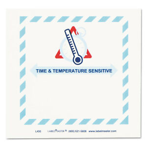 Labelmaster Shipping And Handling Self adhesive Label 5 1 2 X 5 Time temperature