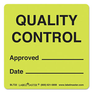 Labelmaster Warehouse Labels 4 7 8 X 3 1 2 Quality Control Approved date 500