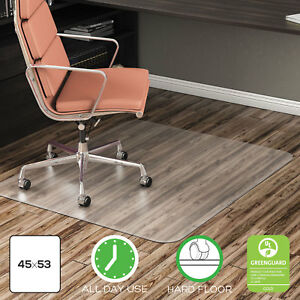 Deflect o Economat Anytime Use Chair Mat For Hard Floor 45 X 53 Clear Cm21242com