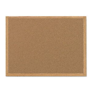Mastervision Value Cork Bulletin Board With Oak Frame 36 X 48 Natural