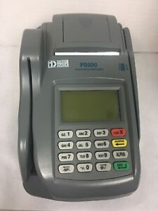 First Data Fd200 Wifi Terminal Check Reader Plus Fd 35 Pin Pad Works Great