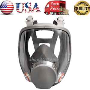 6800 Gas Mask Full Face Facepiece Respirator For Painting Spraying Large Vision