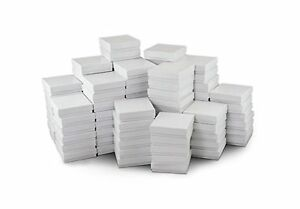 White Jewelry Gift Boxes Cotton Filled 33 case Of 100