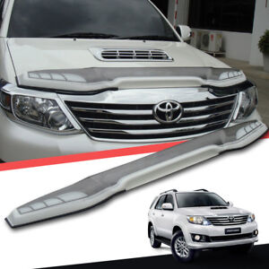 White Silver Front Bug Guard Shield Protector Fit For Toyota Fortuner 2012 2014