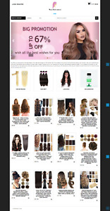 Hair Extension Lace Front Wig Turnkey Website Blog For Sale
