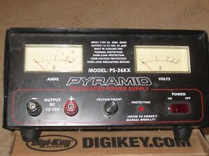 Pyramid Model Ps 36kx Linear Regulated Power Supply 12 14 5v Output 120v Ac In