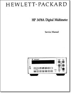 Hp 3478a Service Manual W 11 x17 Foldouts Protective Covers
