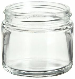 Wheaton W216919 Clear Glass 2oz Straight Sided Jar Without 53 400 White Lined