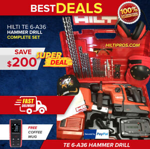 Hilti Te 6 a36 Hammer Drill New W Dust Removal Free Laser Extras Fast Ship