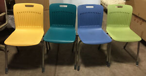 33 Analogy Virco Chairs Stacking Office Restaurant Cafe Mixed Colors