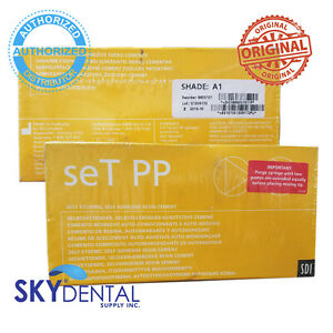 Dental Sdi Set Pp Syringe Self Etching Self Adhesive Resin Cement A1 2x 7g tips