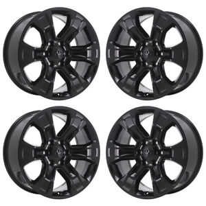 20 Dodge Ram 1500 Truck Black Wheels Rims Factory Oem Set 4 2019