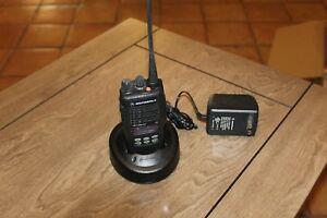 Motorola Ht1250 Ls 2 way Radio W Charger Base Untested a8