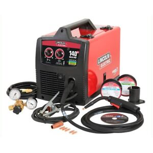 Welder Pak 140 Amp Mig Wire Feed Welder W Magnum 100l Gun By Lincoln Eletric