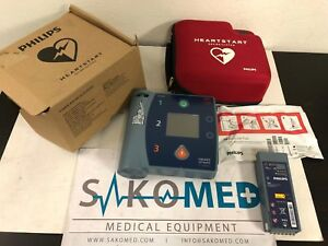 Philips Heart Start Fr2 new With Carry Case New Adult Pad And New Battery
