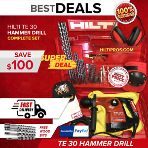 Hilti Te 30 Hammer Drill Preowned Free Wood Bits Extras Fast Shipping