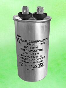 Run Capacitor 25 Mfd 440 Vac Round Can Ul Certified Rc 25f 4