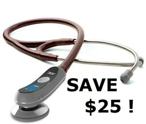 New Adc 658 Electronic Digital Burgundy Stethoscope littmann Style W 25 Gift