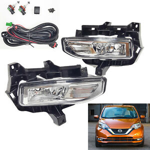 For 2017 2019 Nissan Versa Note Hatch Fog Driving Light Kit W Wire Switch Relay