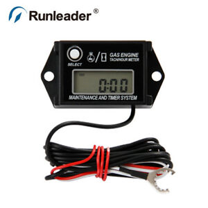 026a Inductive Tach Hour Meter 2 Or 4 Stroke Tachometer Digital Motorcycle