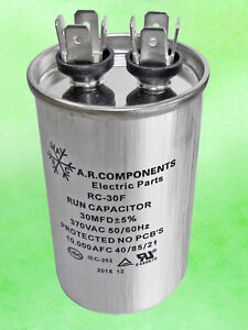 Run Capacitor 30 Mfd 370 Vac Round Can Ul Certified Rc 30f