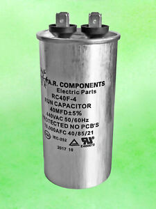 Run Capacitor 40 Mfd 440 Vac Round Can Ul Certified Rc 40f 4