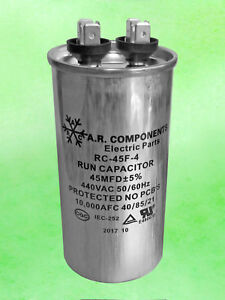 Run Capacitor 45 Mfd 440 Vac Round Can Ul Certified Rc 45f 4